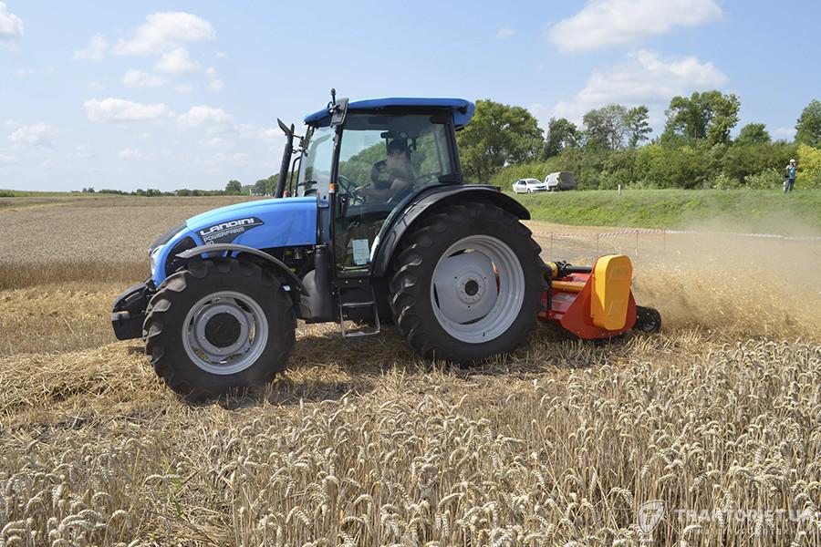 Трактор Landini Powerfarm 110 з мульчувачем «Либідь»