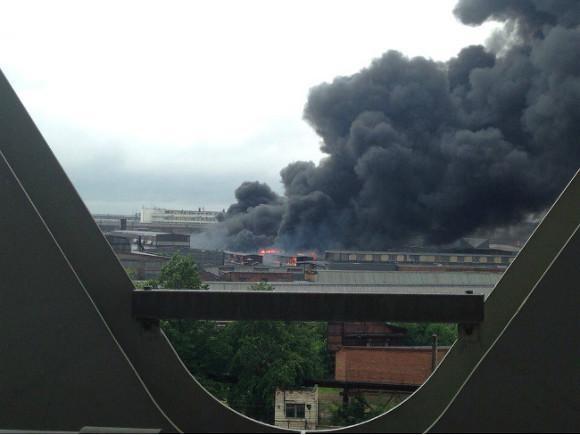 Пожар на Кіровському заводі у Перебурзі