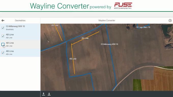 Інтерфейс Wayline Converter Tool