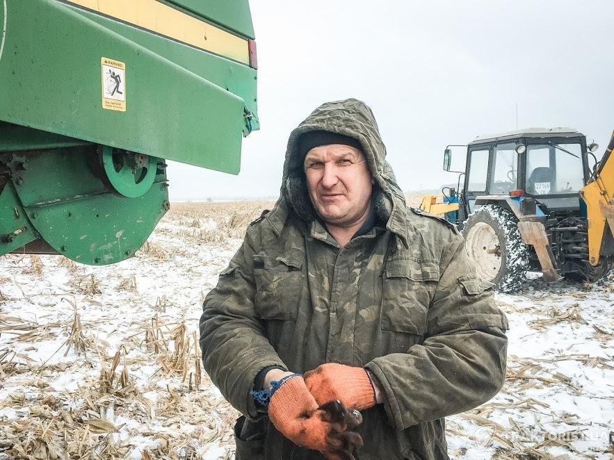 Комбайнер з 30-річним стажем Олександр Мельник